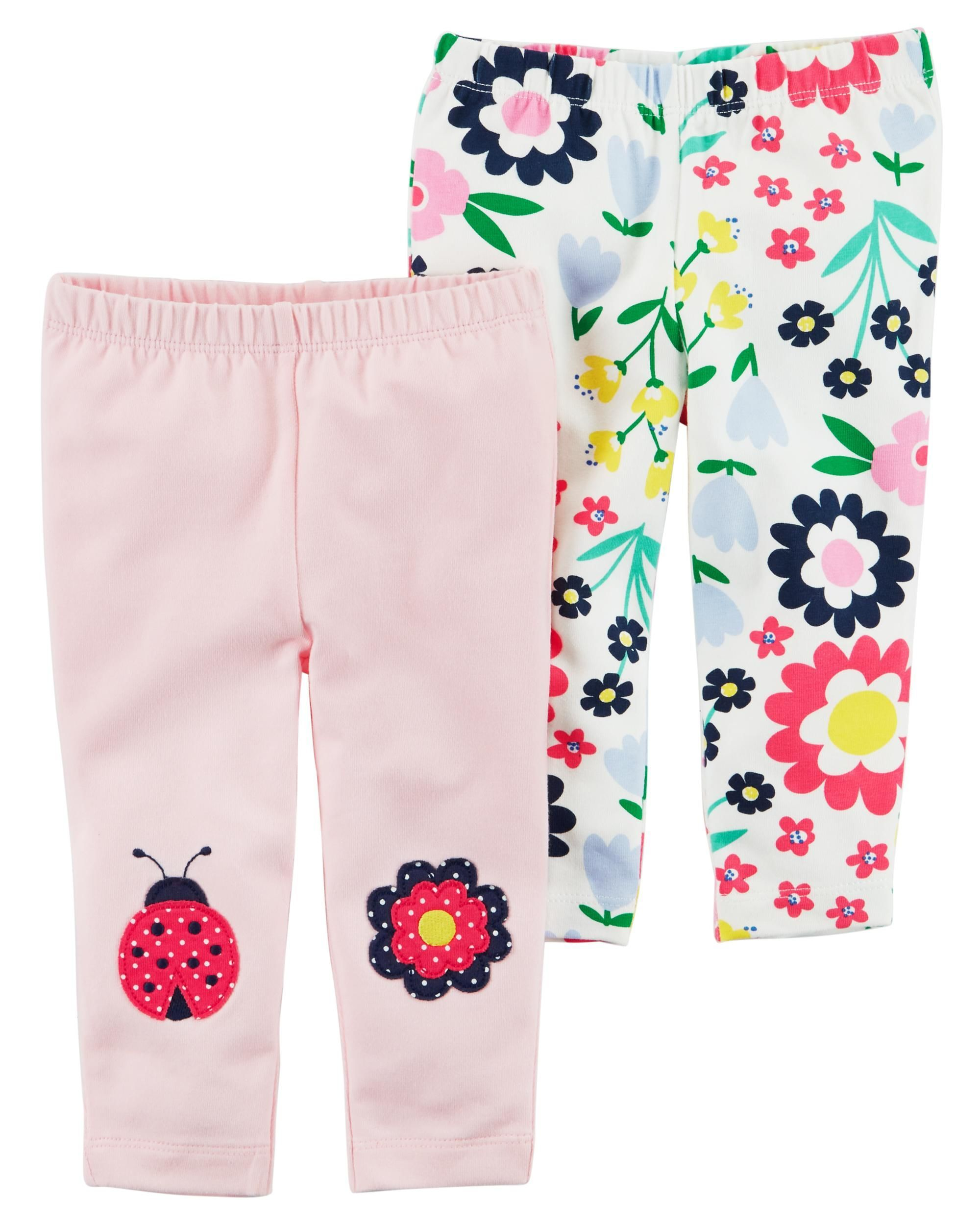 0f3a96277 Baby Girl 2-Pack Floral Leggings