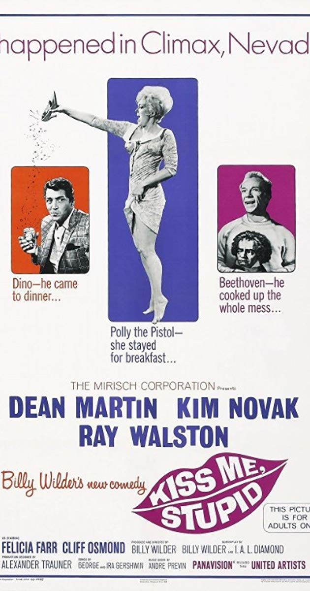 Directed by Billy Wilder. With Dean Martin, Kim Novak, Ray