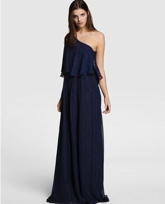 136f4fe64 Vestido largo de mujer Easy Wear en azul marino