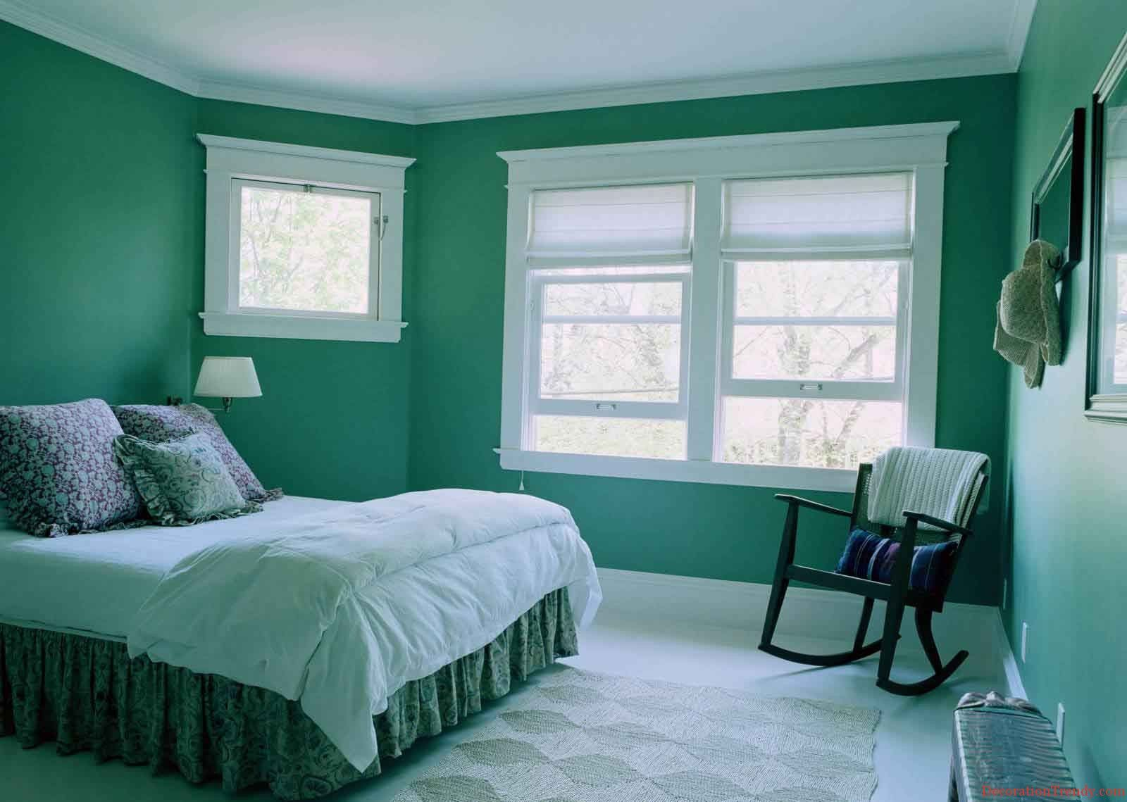 Green bedroom ideas for women - Wall Color Combination Design Ideas And Photos Get Creative Wall Painting Ideas Designs For Green Brown Bedroomslight