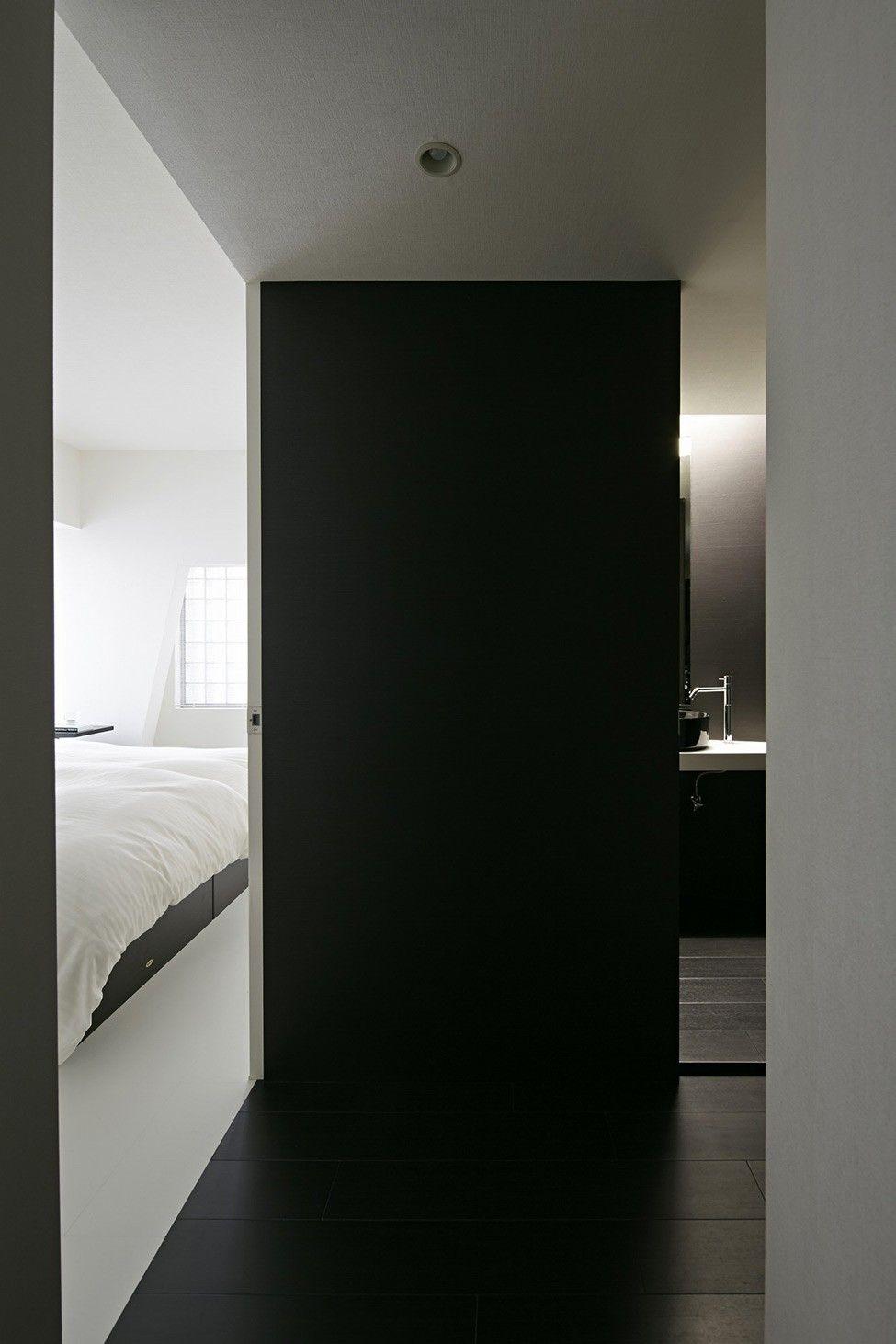 schwarz-weiß-Wohnung-Design in Tokio zeitgenössische ...