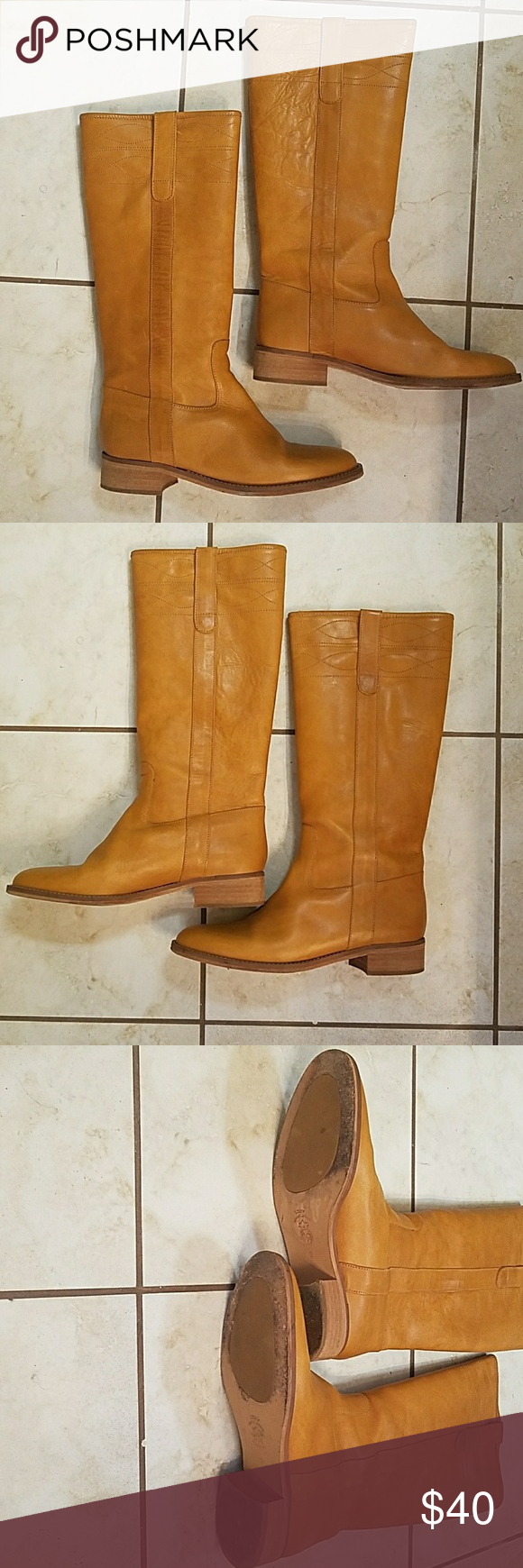 Woman's J Crew Riding Boots Only worn a few times... In good condition... Classic and Stylish... Color is a light camel brown... Very comfortable... J. Crew Shoes