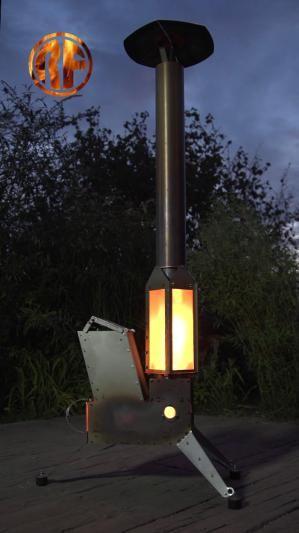 Raketenofen Mit Laterne Hut Rocket Stove Pinterest