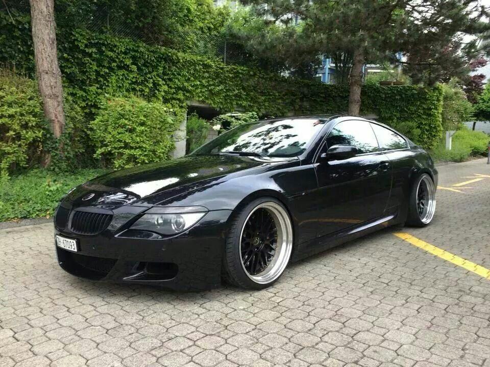 Bmw E63 M6 Black Deep Dish Bmw Bmw Car Bmw Cars