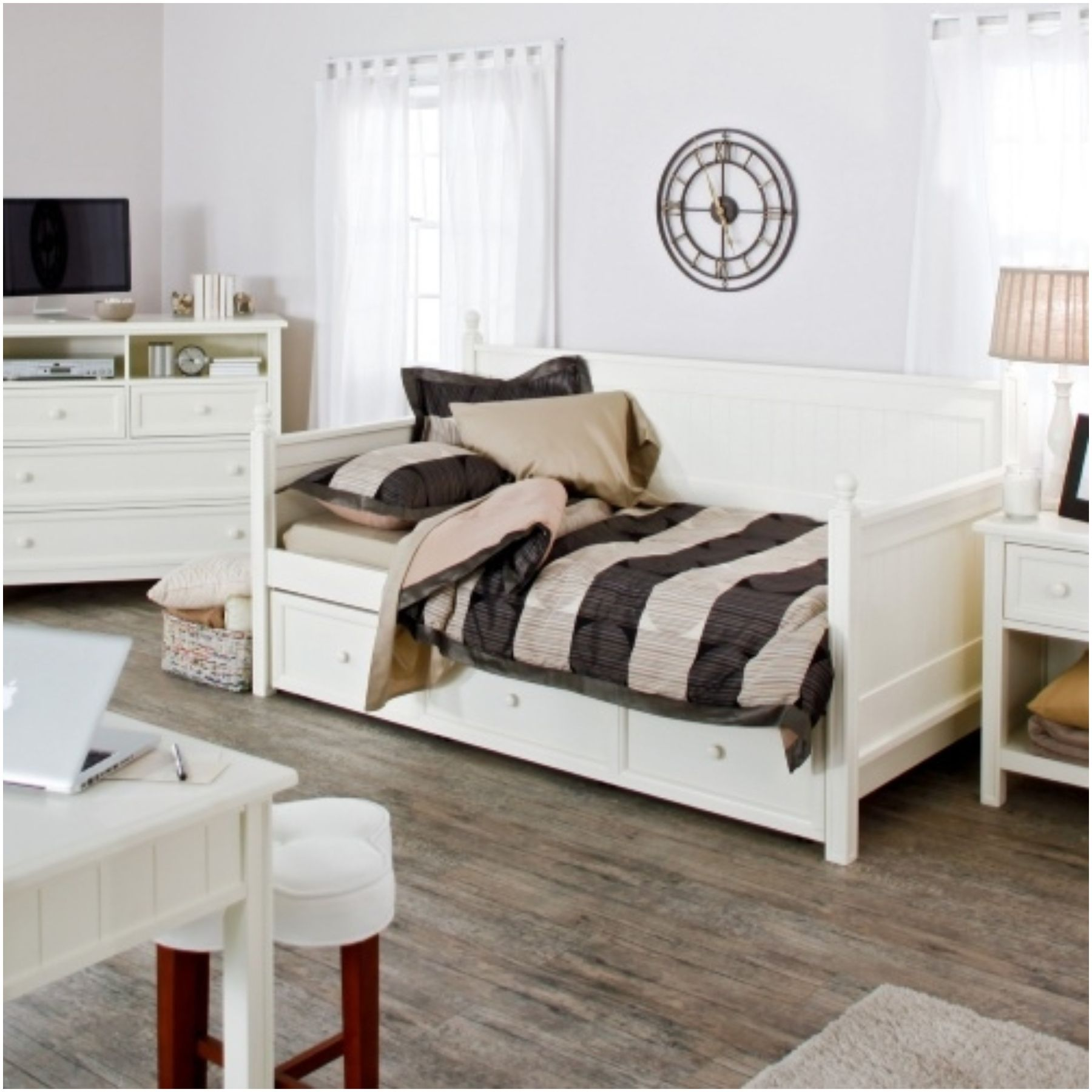 decoration dresser of daybeds furniture beautiful home drawers with modern shelves nightstand room bedroom storage full teennick and ideas for design white kids daybed