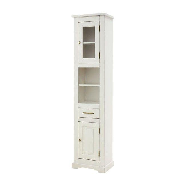 Szafka Wysoka Romantic Biala 45 X 190 X 30 Cm Tall Cabinet Storage Locker Storage Storage