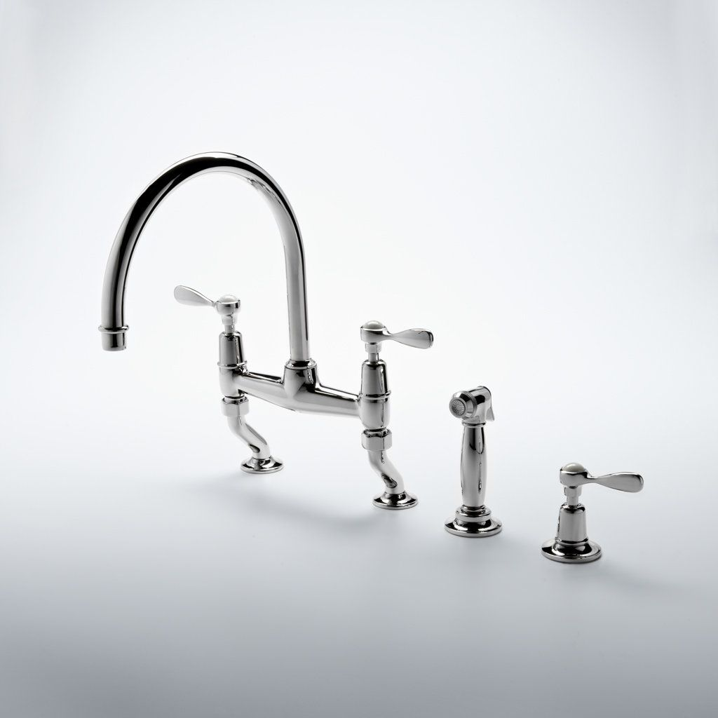 Classic Gooseneck Two Hole Kitchen Mixer Products Waterworks