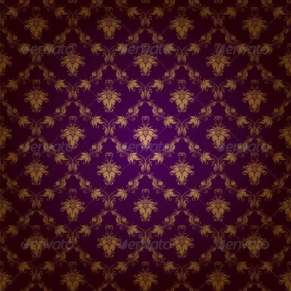 Damask Seamless Floral Pattern Floral Pattern Vector Royal Wallpaper Floral Pattern Gold purple pattern background hd