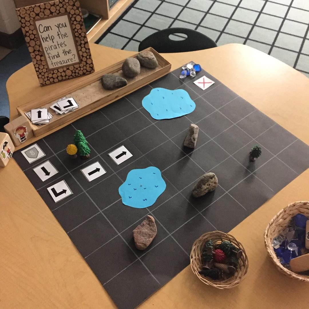 Our Treasure Map Coding Provocation Kindergarten