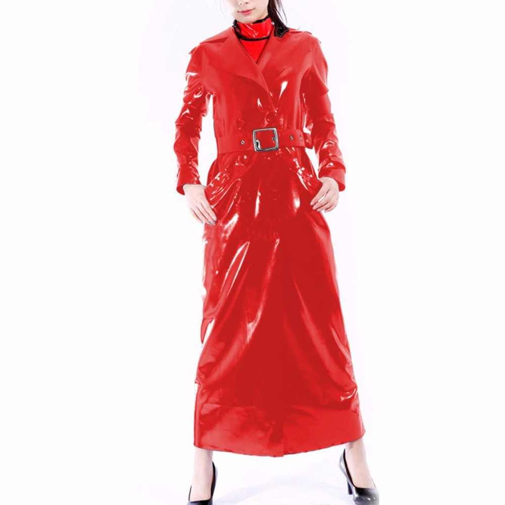 New !!Handsome Fashion Costume Latex Rubber Black Long