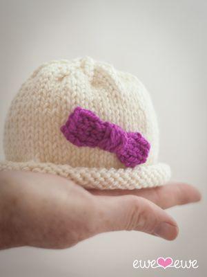 Hello Preemie Hat {free knitting pattern}   Gorro recien nacido ...