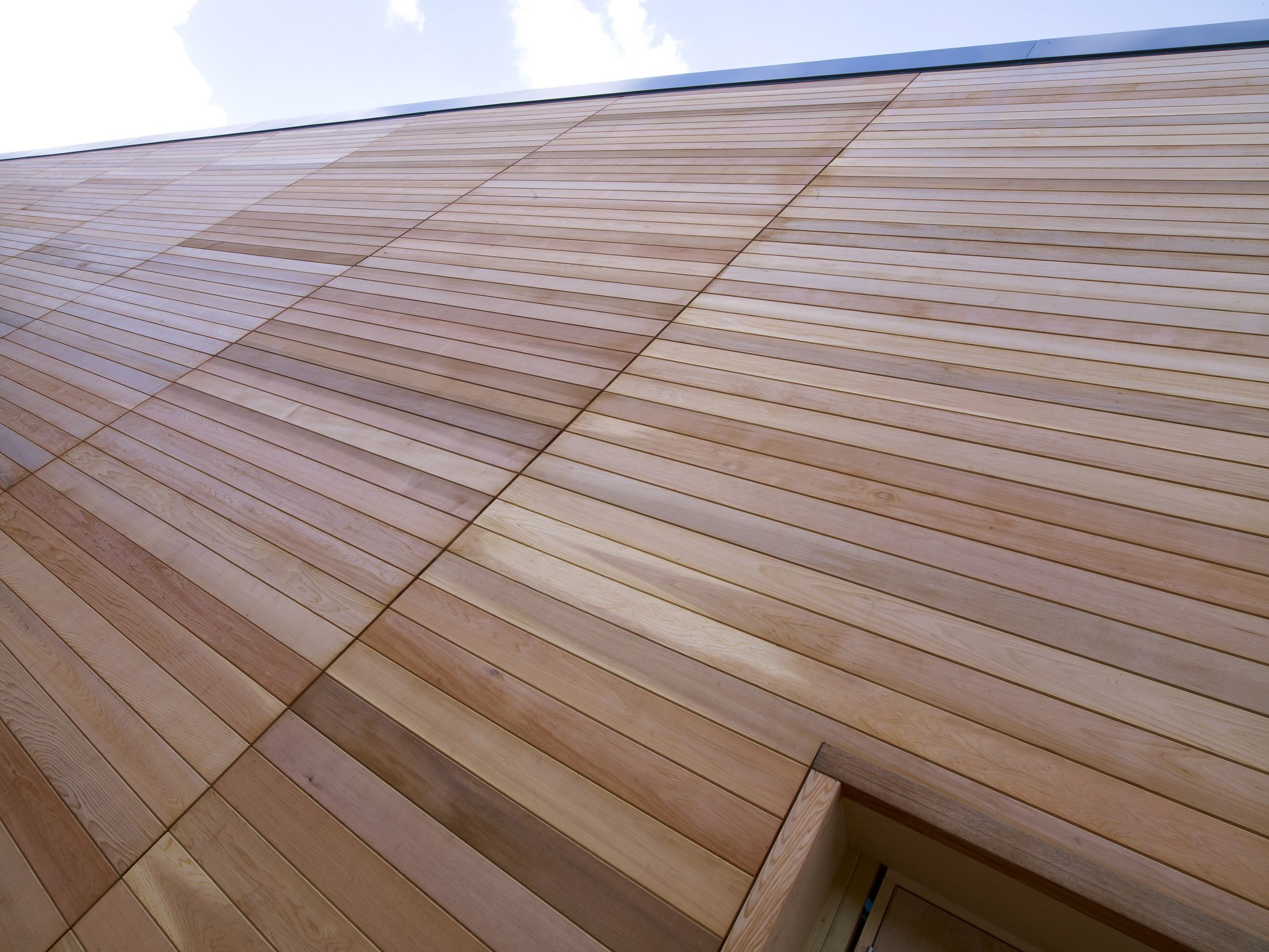 Western red cedar tongue and groove cladding used on new m - Tongue and groove interior cladding ...