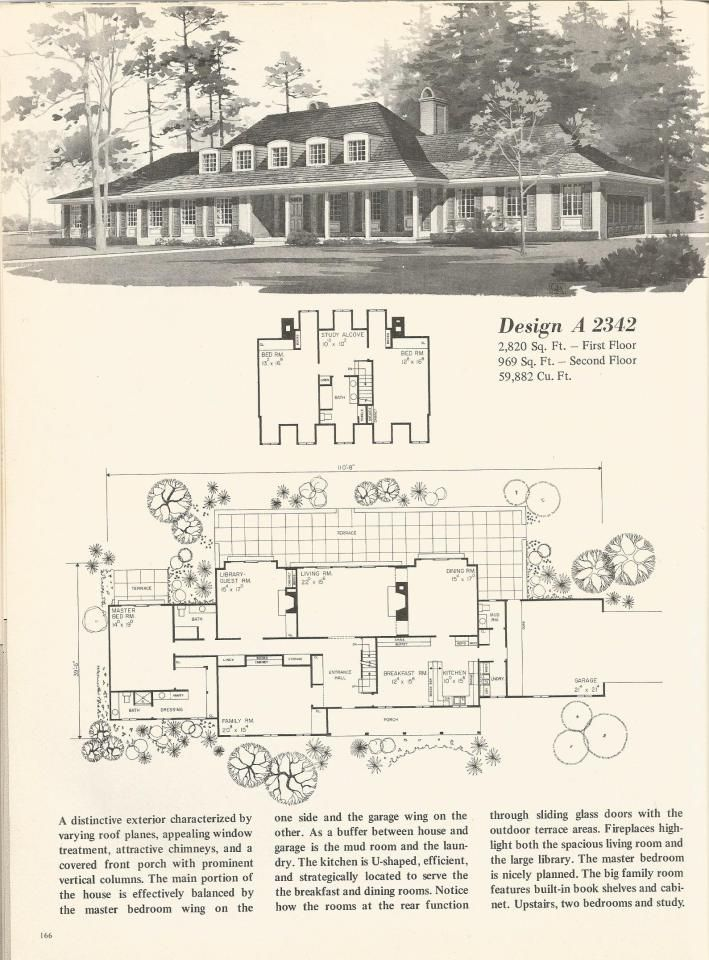 70s Vintage House Plans Country Estates Vintage House Plans