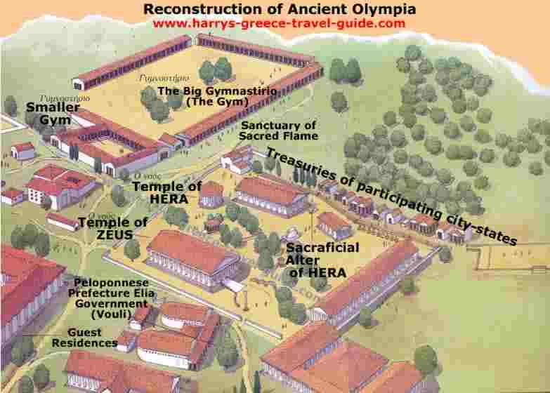 Map Olympia Greece City Google Search Temple Of Zeus Olympia