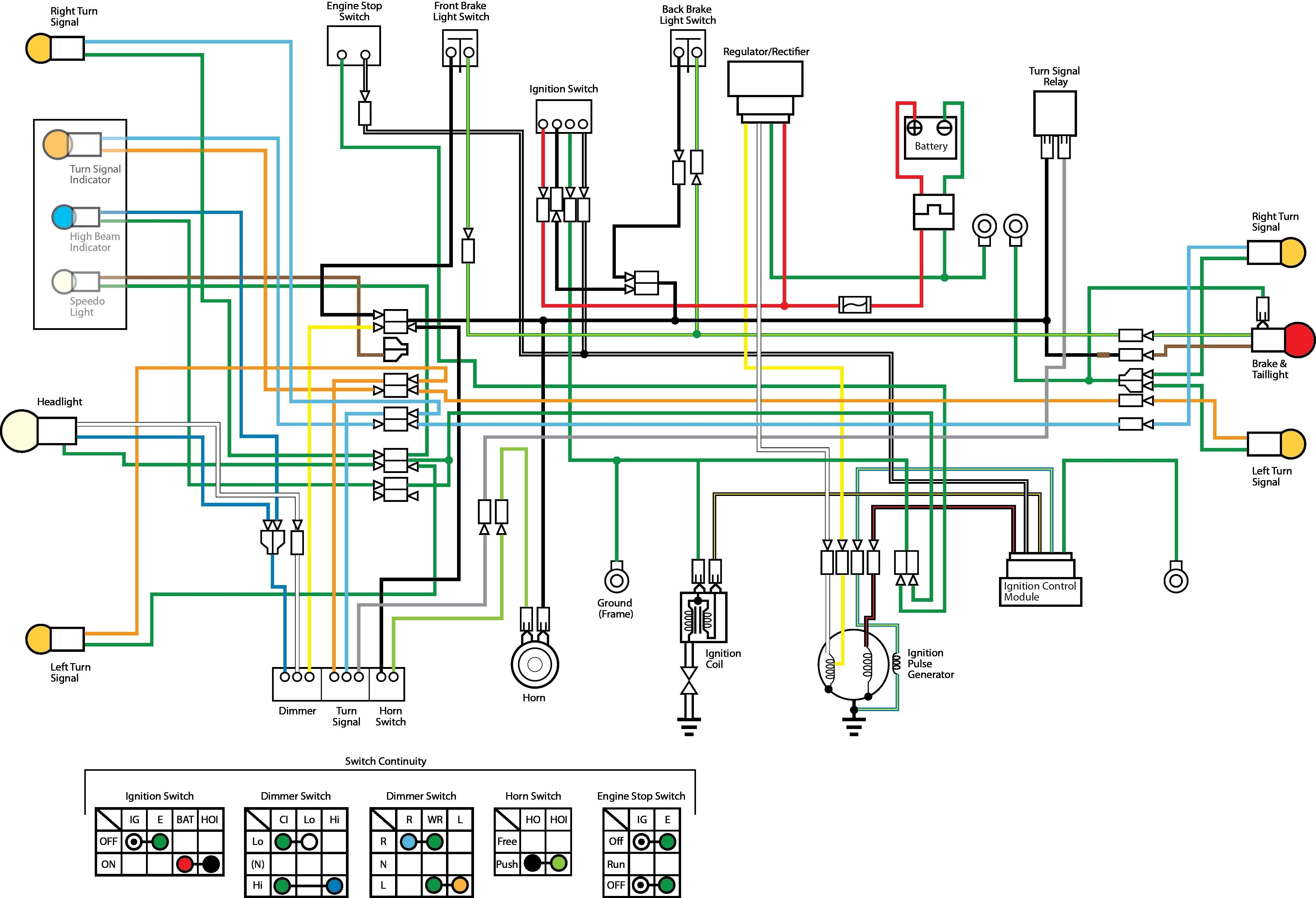 Car Wiring Diagram Awesome In 2020 Motorcycle Wiring Motorcycle Design Electrical Wiring Diagram