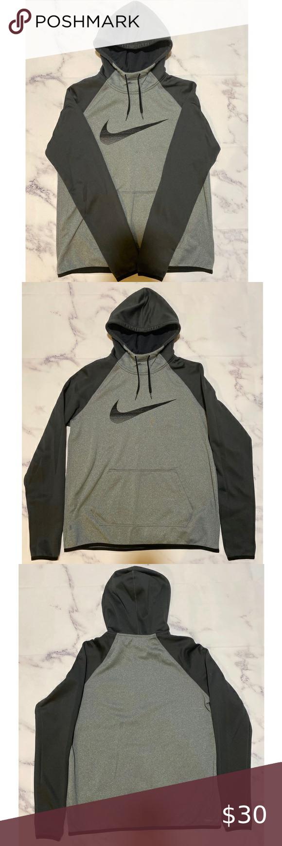 Predownload: Nike Therma Fit Sweatshirt Workout Sweatshirt Sweatshirts Grey Hooded Sweatshirt [ 1740 x 580 Pixel ]