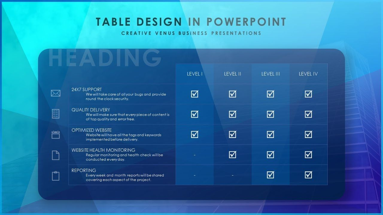 how to design a beautiful table slide in microsoft office 365, Powerpoint templates