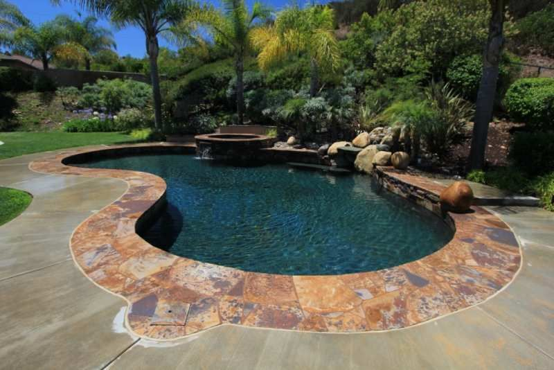Decking And Coping Swimming Pool Cost Pool Cost Gunite Swimming Pool