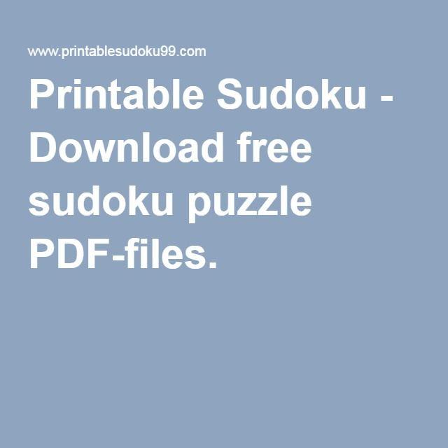 image regarding Sudoku Puzzles Printable Pdf titled Printable Sudoku - Obtain no cost sudoku puzzle PDF-documents