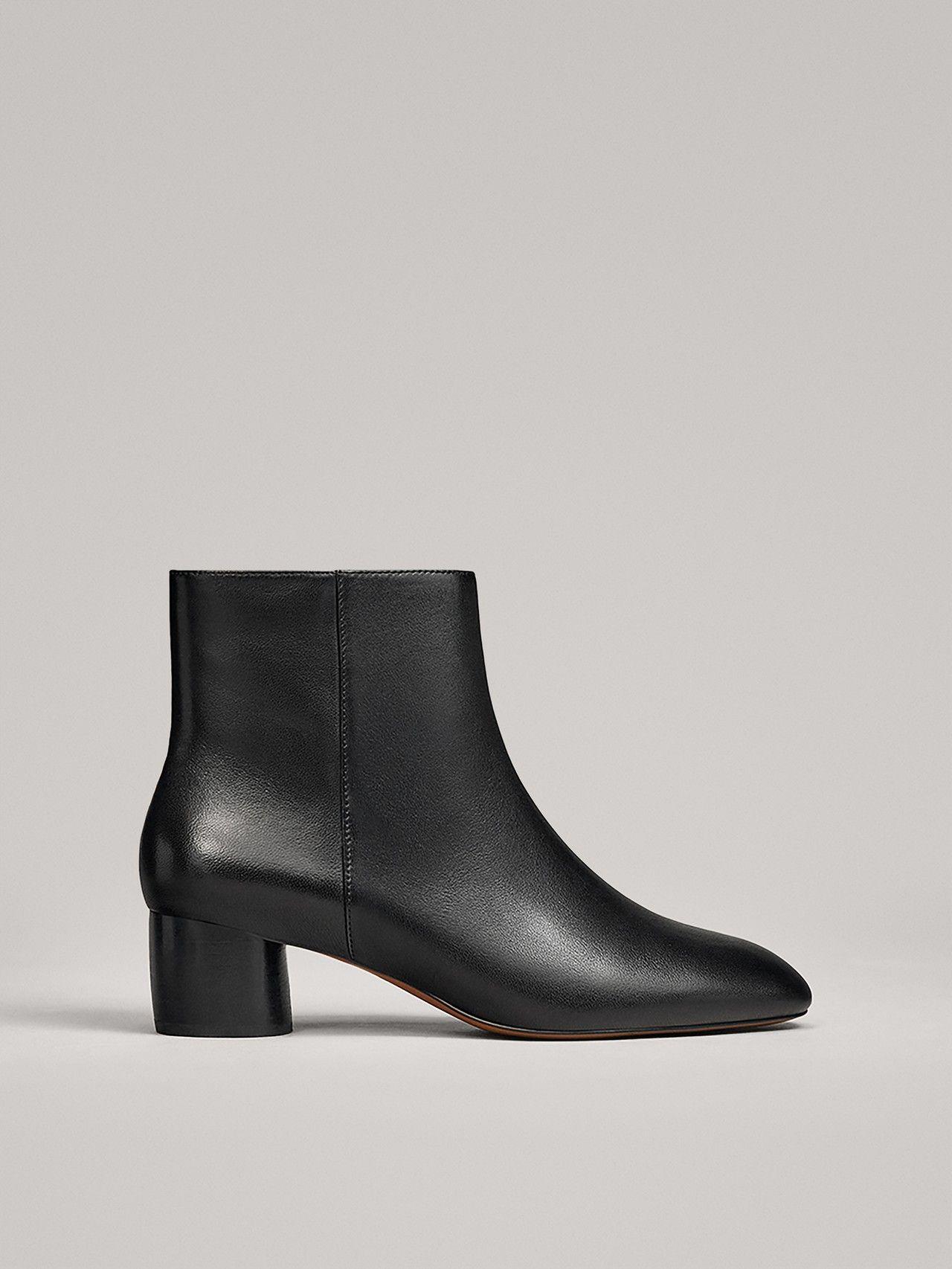 Schwarze Stiefeletten Mit Rundem Absatz Black Ankle Boots Boots