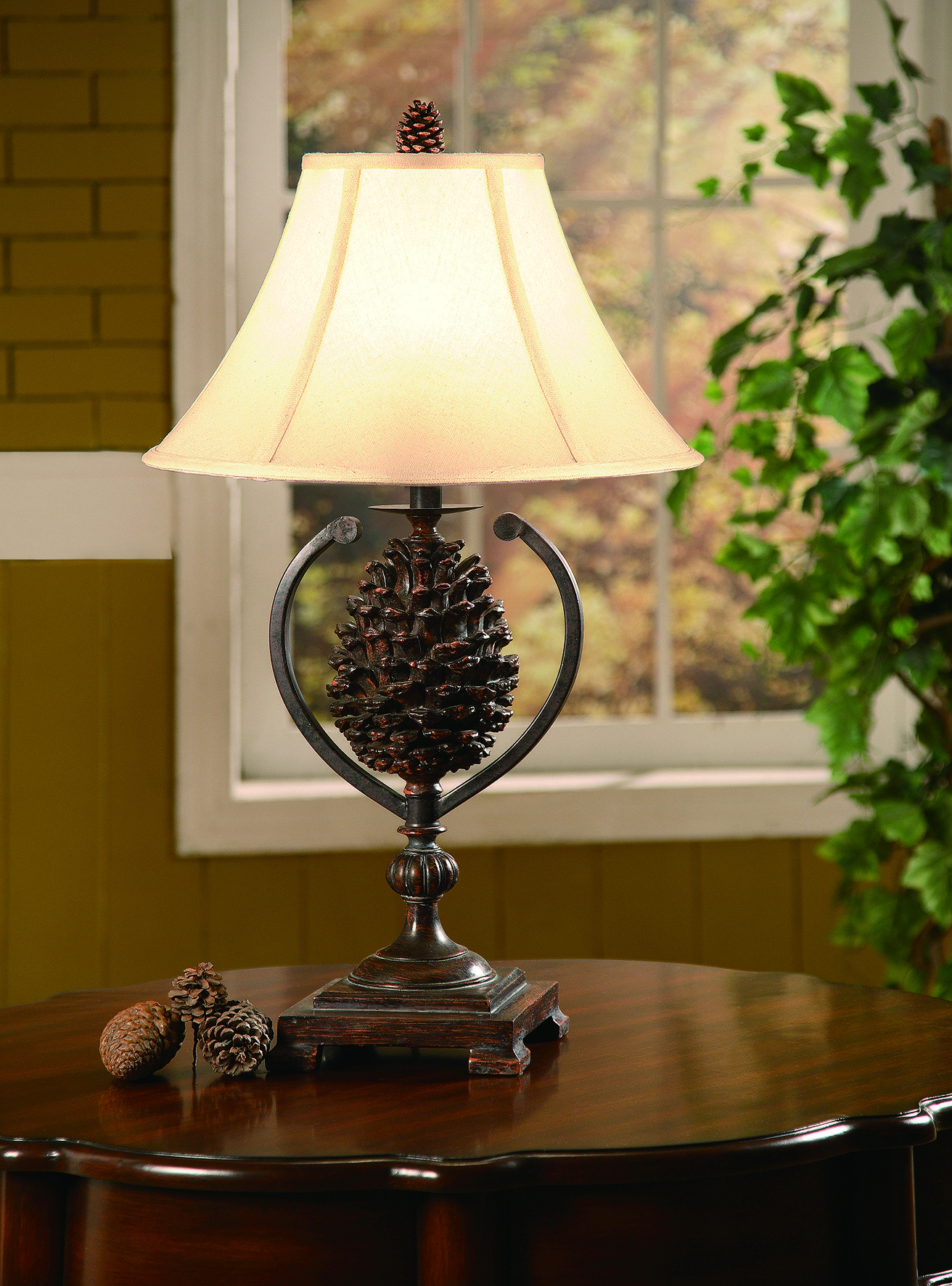 Lodge table lamps rustic pinecone cabin table lamp all kinds of lodge table lamps rustic pinecone cabin table lamp aloadofball Images