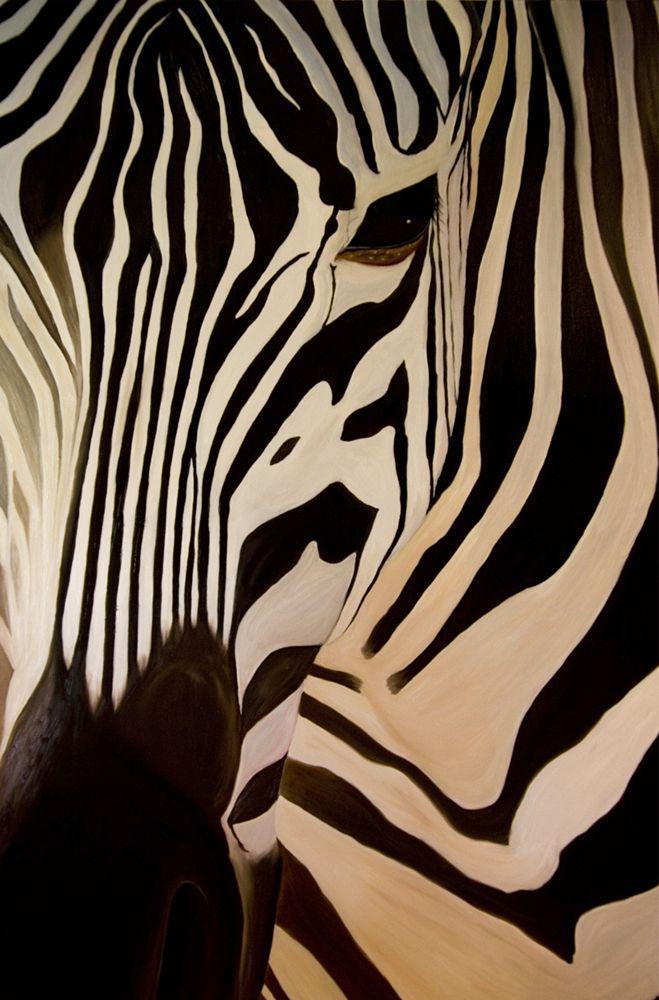 Zebra Painting Zebras Pinterest Peinture Peinture Cheval And