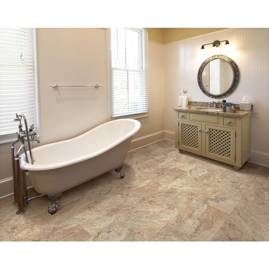Smartcore Ultra 8 Piece 11 97 In X 23 62 In Tivoli Travertine Locking Luxury Commercial