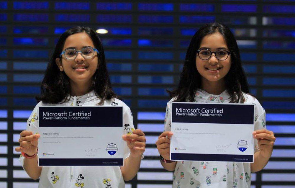 Twin Sisters | Zara Khan  & Zenubia Khan | Youngest Microsoft Professionals