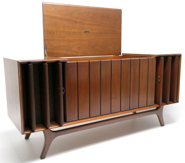 Mid Century Modern Zenith STEREO CONSOLE- 60's - Record Player ...
