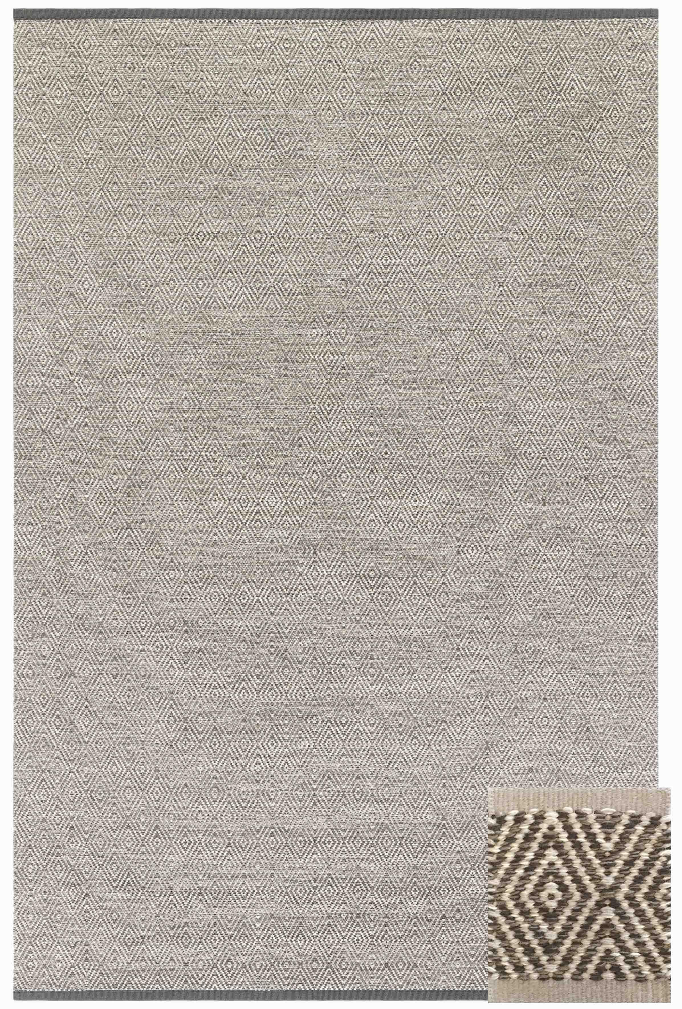 Kasthall Goose Eye Icon goose eye xl woven wool rug color: summer haze/custom brown