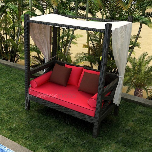 Forever Patio FP BAR CDL EB Barbados Outdoor Canopy Day Lounger | ATG