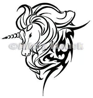 Pin By Tia On Tatts Unicorn Tattoos Tribal Horse Tattoo Unicorn Tattoo Designs