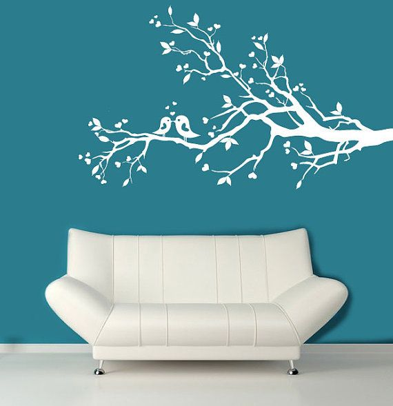 Wall Decal White Tree Branch With Hearts Decal By ModernWallDecal, $69.00  For Baby Room, Need Left And Right