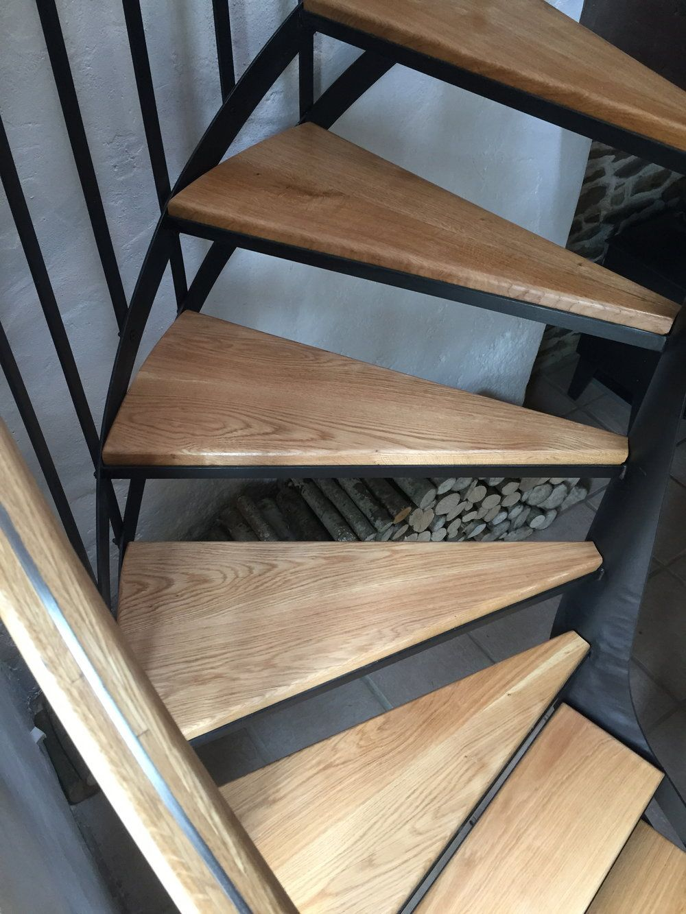 Best Woco Ltd Bespoke Painted Steel And Oak Spiral Staircase 400 x 300