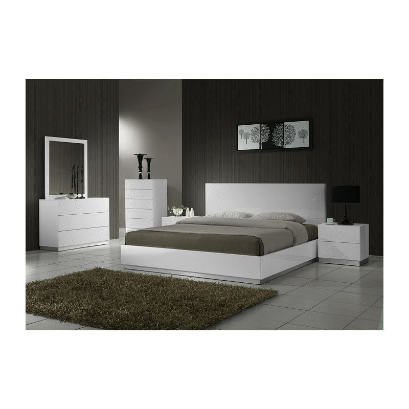 J&M Furniture Naples Dresser is part of Discount bedroom furniture - Naples Bedroom by J&M Furniture offers a unique design and outlook of the modern bedroom  Aiming for gentle yet elegant, this white lacquered finish set will enhance the look of bedrooms of different sizes and colors  Whether choosing the entire set, its individual platform bed, or any of the case goods, you can rest assured that this quality furniture is meant to last  Our case goods are equipped with full extension glides, and are built with plantation grown solid wood (no rainforests are harmed)  includes mirror  6 Drawer Dresser 55 W x 18 D x 32 H