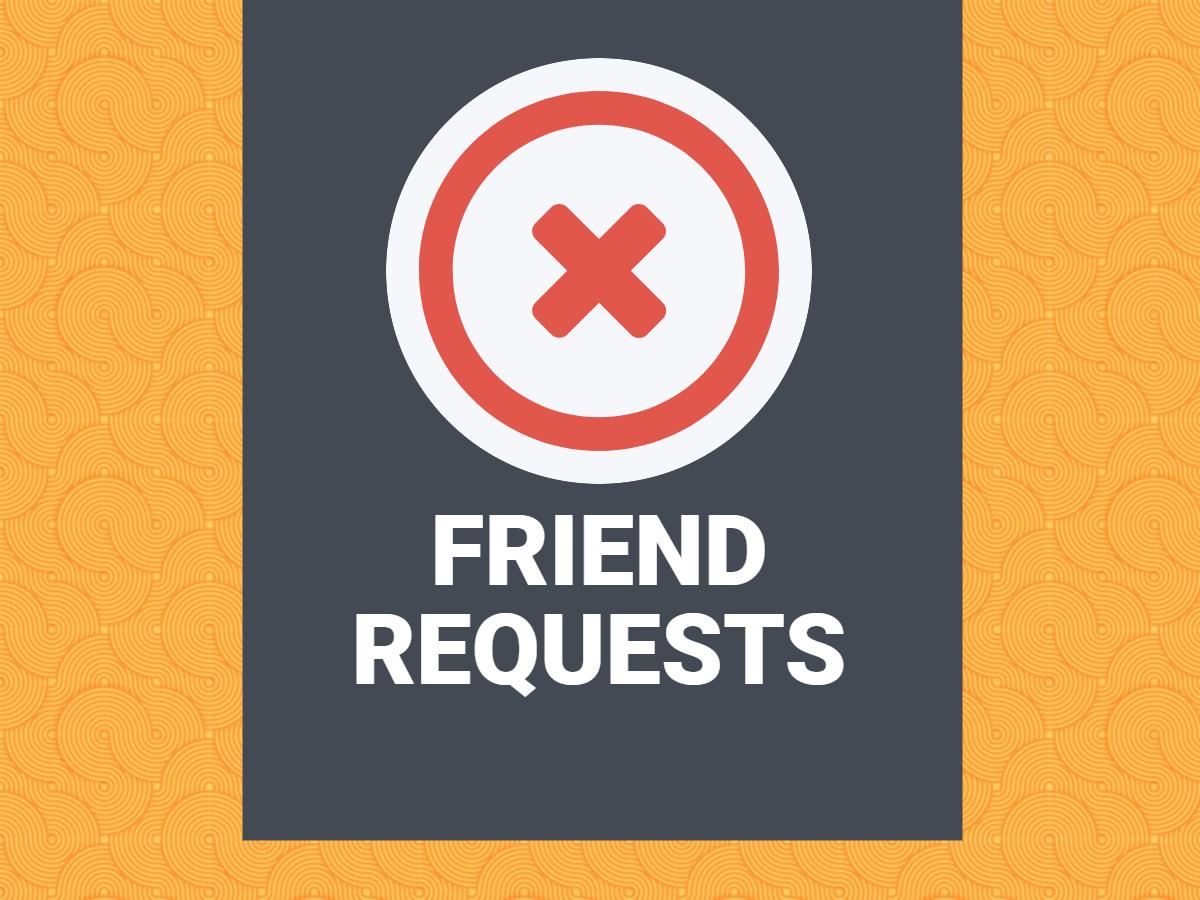 Cancel A Facebook Friend Request Facebook Friend Request Request Facebook