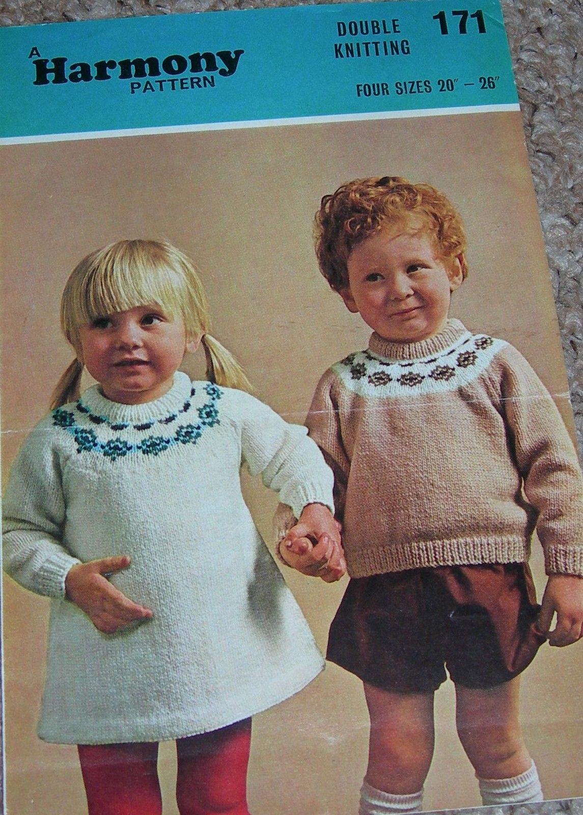 Vintage harmony knitting pattern boys dk fairisle yoke sweater vintage harmony knitting pattern boys dk fairisle yoke sweater girls bankloansurffo Images
