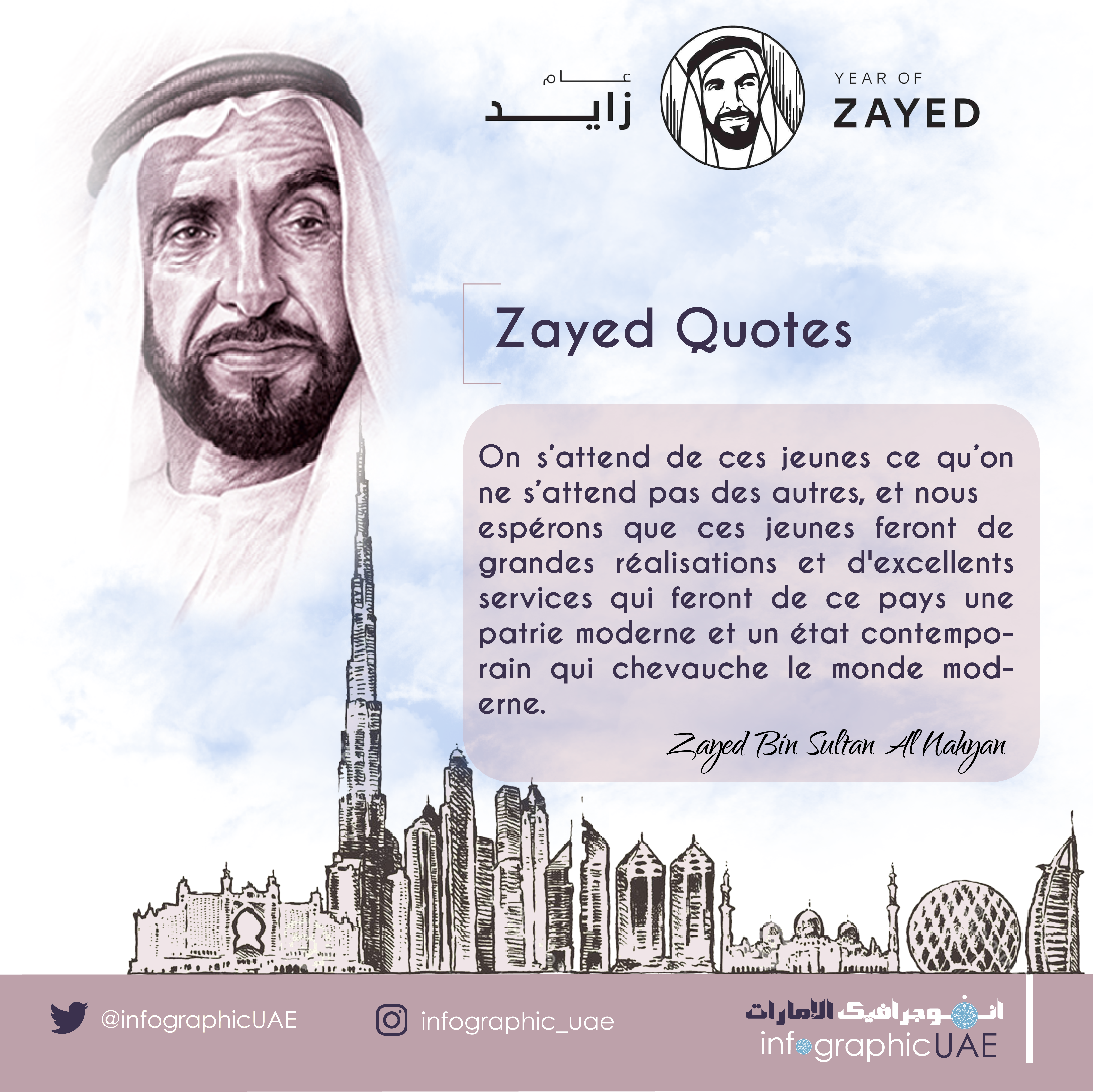 Downloading Arabic Quotes: Zayed Quotes #yearofzayed