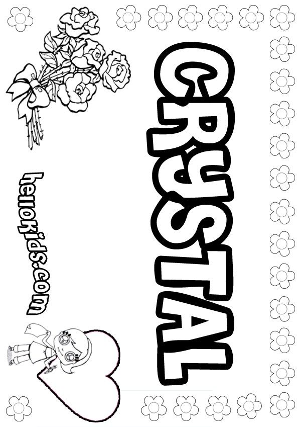 Crystal Coloring Page Girl Scout Promise Daisy Girl Scouts