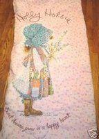 vintage holly hobbie sleeping bag  I had mine forever.  it had holes but was sooooo soft.