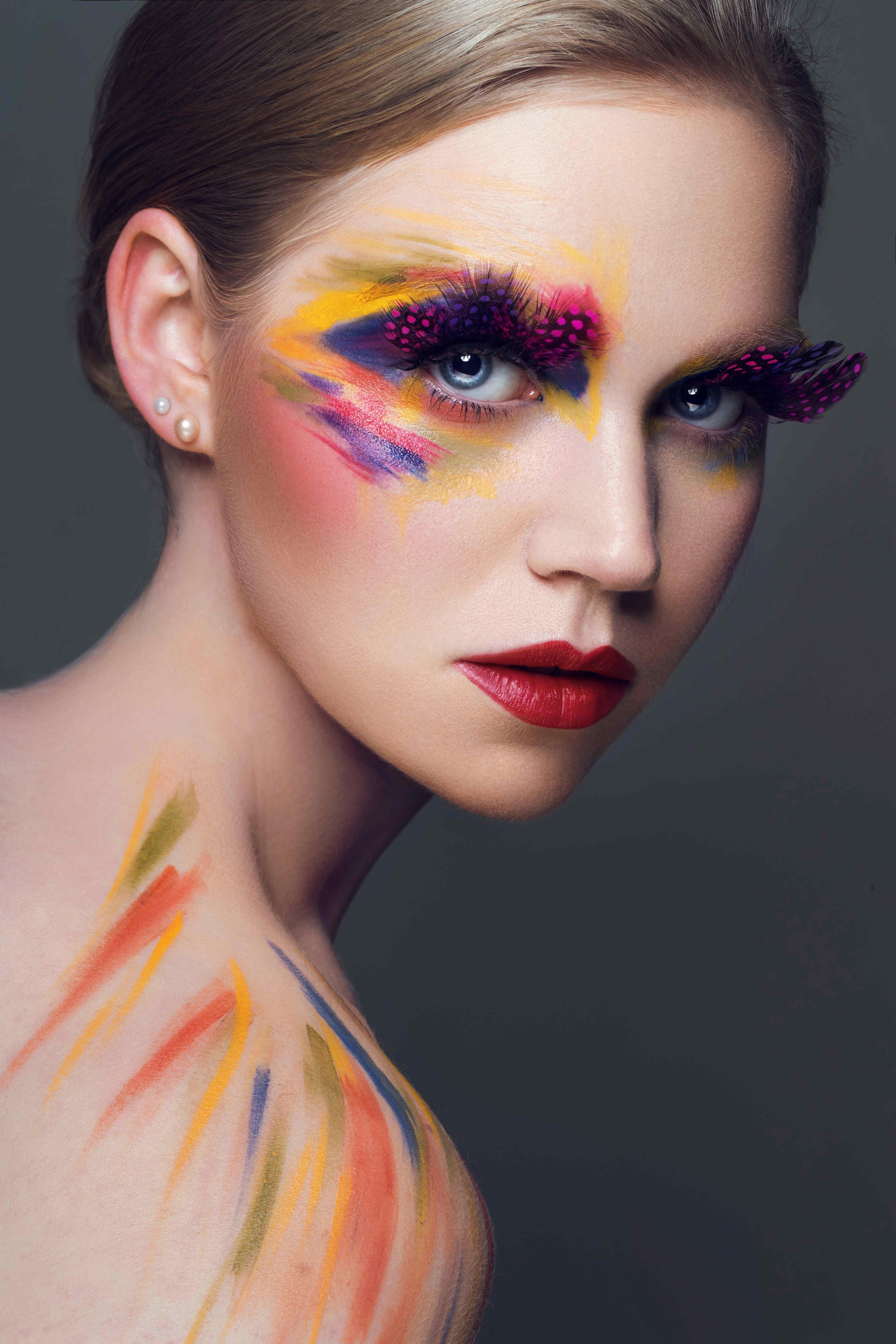 Fashion Creative Makeup Colourful Makeup Photoshoot Makeup
