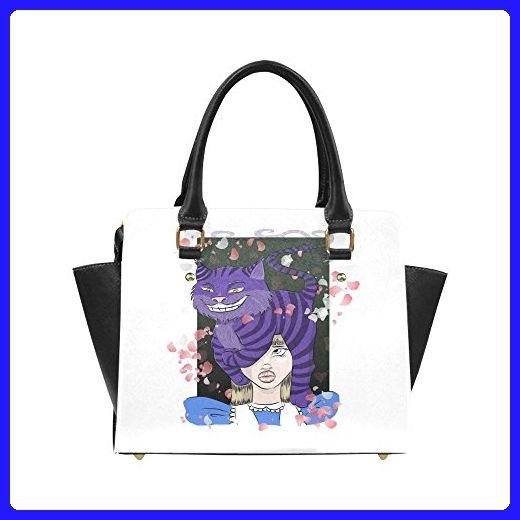 InterestPrint Top Handle Satchel HandBags Shoulder Bags Tote Bags Purse Colorful Geometric Pattern