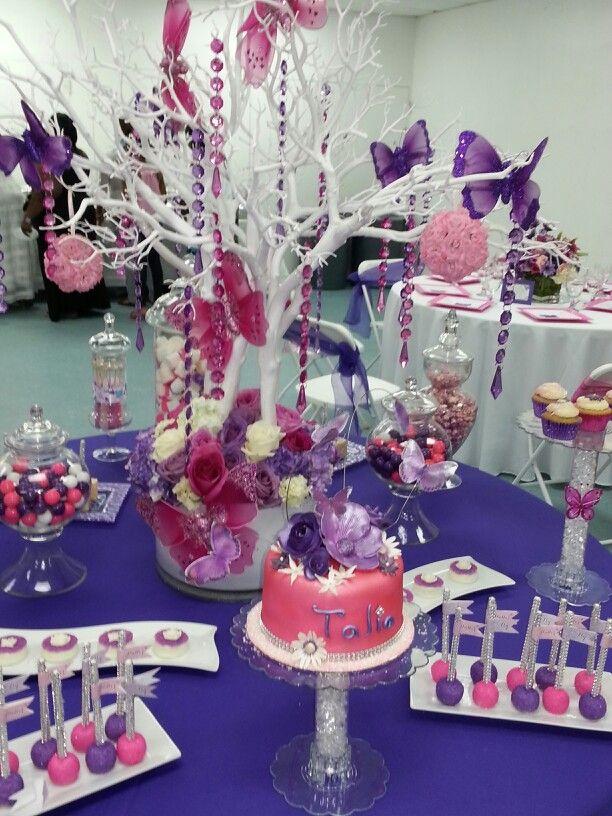 Butterfly bling baby shower dessert table dessert for Baby shower butterfly decoration ideas