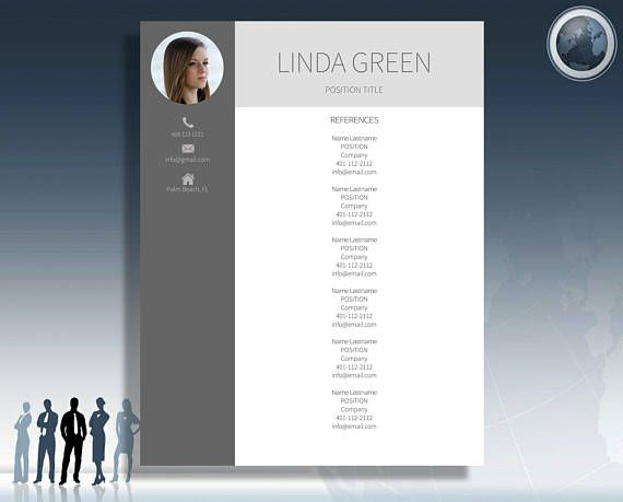 Resume Template Modern Resume Template With Photo Professional - 3 resume formats