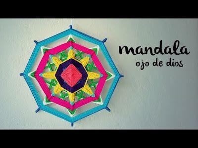 Reciclando con Erika : Mandala tejido , OJO DE DIOS