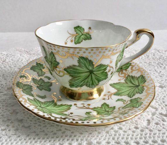 Photo of Royal Chelsea Maple Leaf China Tea Cup & Saucer