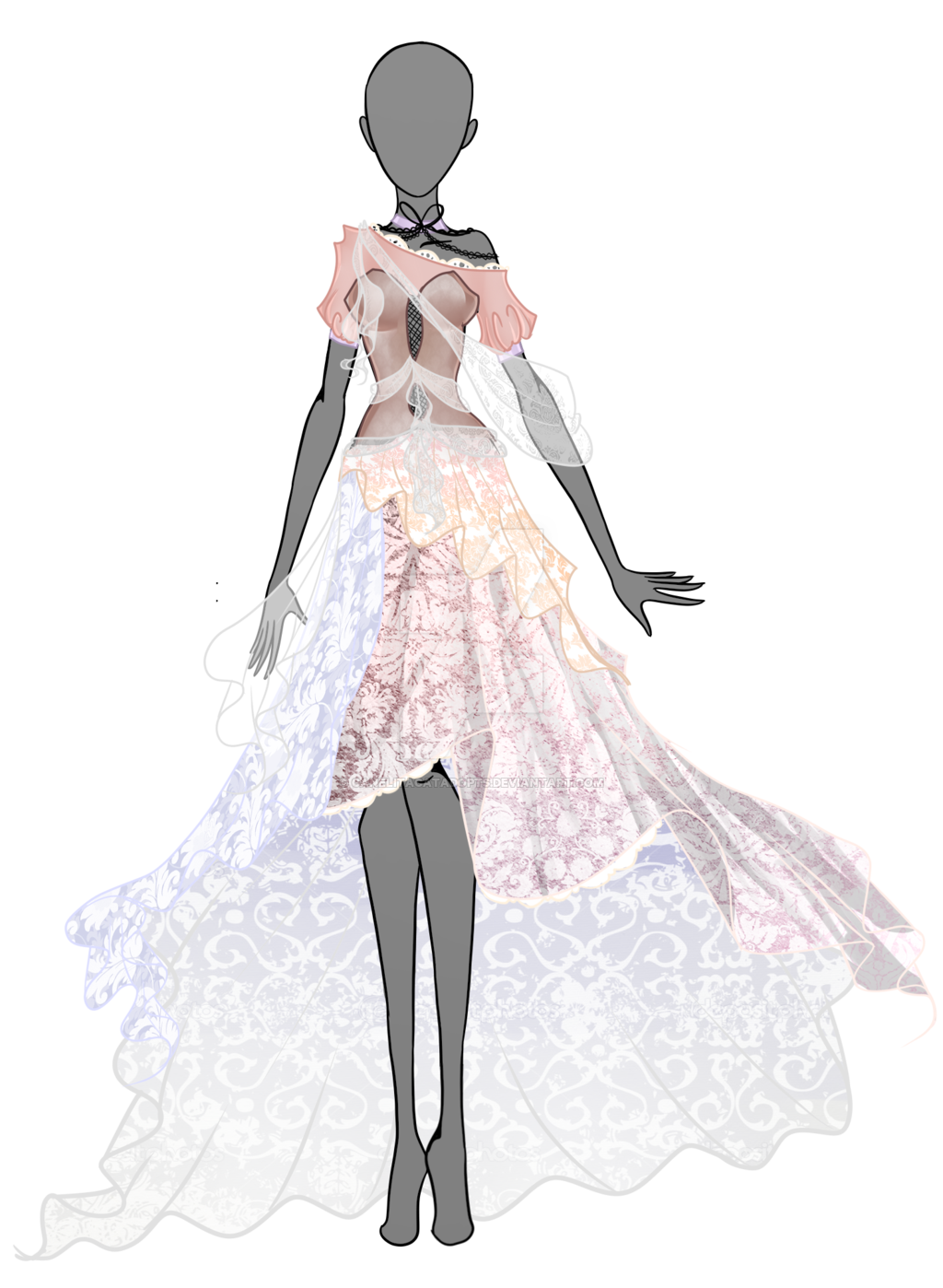 Spring Dream Dress Auction Open By Canelitacatadopts