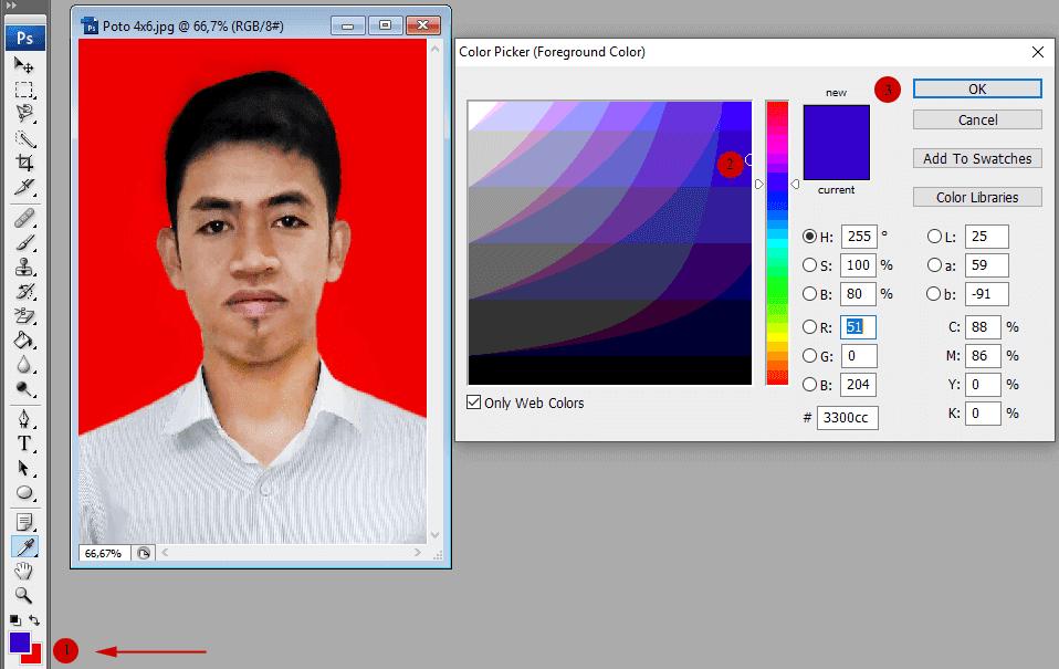 25 Warna Latar Foto Untuk Lamaran Kerja Cara Membuat Foto 3x4 Dan 4x6 Di Berbagai Media Carapedi Id Download Cara Mudah Membuat Pas Warna Photoshop Pas Foto