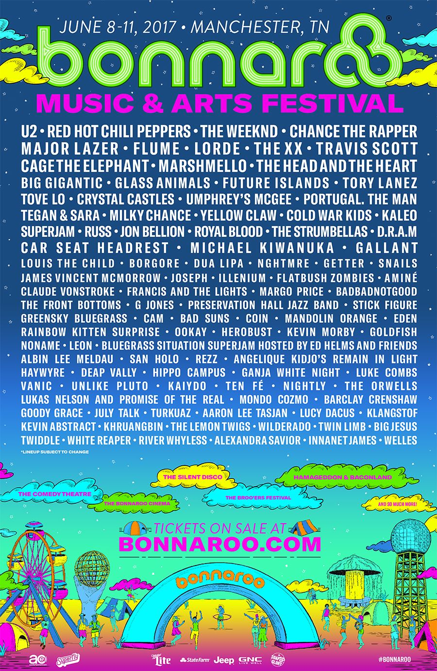 2020 Bonnaroo Music And Arts Festival Lineup.Full Lineup Tickets Available Now Bonnaroo Music Arts