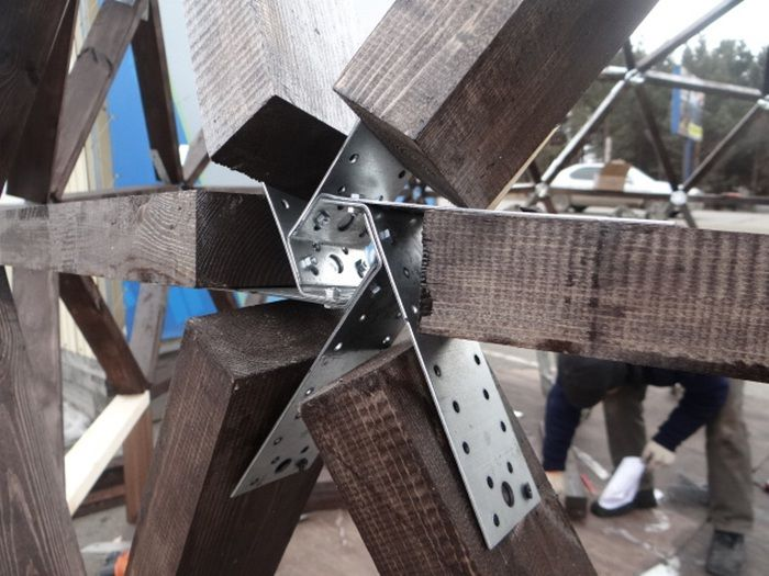 geodesic hubs in 2018 pinterest geod tische kuppel. Black Bedroom Furniture Sets. Home Design Ideas